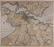 WANDKAART VAN AMSTELLAND  by Drogenham, Gerrit