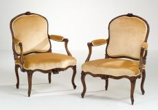 Pair of French Transitional Armchairs
