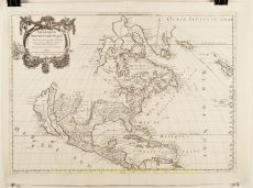 North America Antique Map by Nicolas Sanson