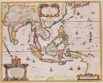 Southeast Asia  by  Hondius/Janssonius