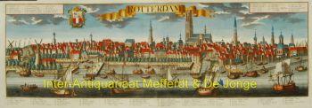 Rotterdam panorama naar Werner by Probst, Johann Friederich