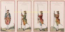 French Royal Army  by Hubert-François Gravelot