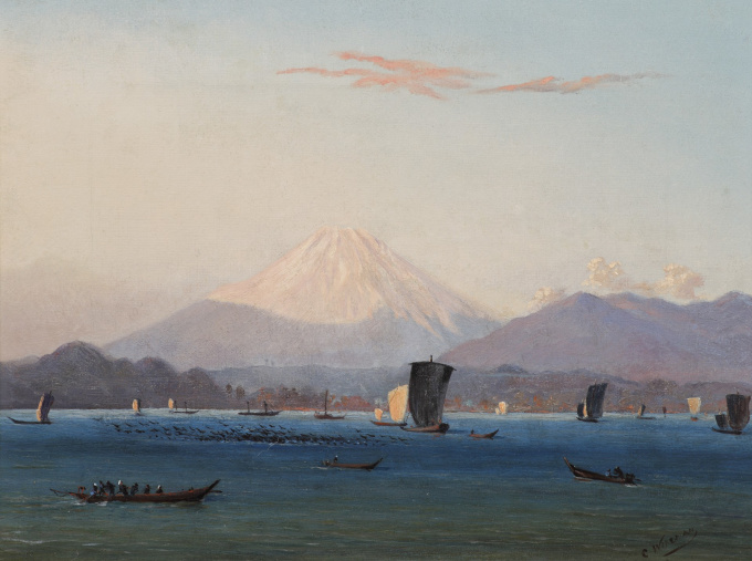 Mount Fuji by Charles Wirgman