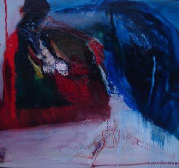'Ábstracte compositie' by Pieter Defesche