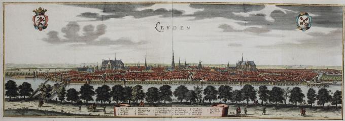 Cityscape of Leiden by Caspar Merian