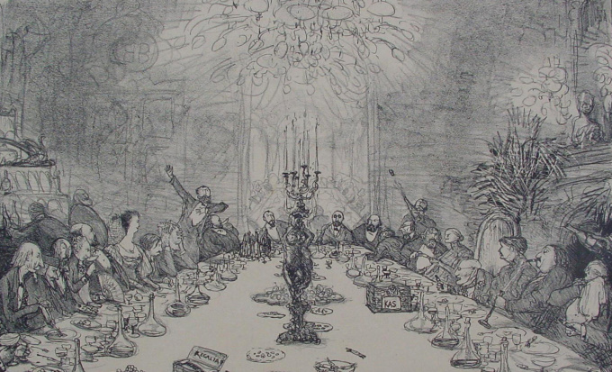 Banquet of the Dutch Drawing Society (Hollansche Teekenmaatschappij) by Marius Bauer