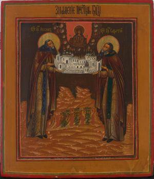 No 5 Zosima and Swataj, Founders of the Solowetski Monastery by Old Believers Workshop