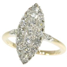 Belle Epoque old mine brilliant cut diamonds engagement ring by Unknown Artist