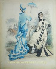 ELEGANTE DAMES IN HET BOIS DE BOULOGNE by David, Jules