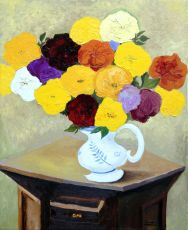 Flowers in a pitcher