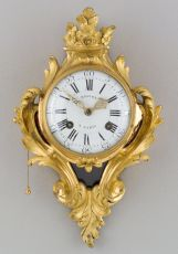 French Gilt Bronze Louis XVI Cartel Clock