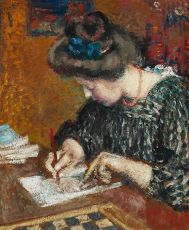 Portrait of Mrs Lemmen Writing by Georges Lemmen