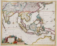 INDIA, SOUTH EAST ASIA, JAPAN AND THE NORTH COAST OF AUSTRALIA by Visscher II, Nicolaes