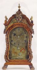 A rare table clock by Johannes du Chesne