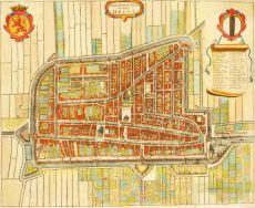 """Delfi Batavorum vernacule Delft"" - Map of Delft"