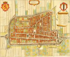 Map of Delft by Gregorio Leti