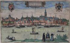 Nijmegen  by  Georg Braun and Franz Hongenberg