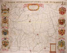WANDKAART VAN HET GROOT-WATERSCHAP VAN WOERDEN  by Wit, Frederick de (1630-1706)