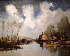 Summer, the river Leie - Belgium by Albert Saverys