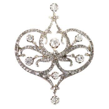 Vintage Belle Epoque diamond brooch by Unknown Artist