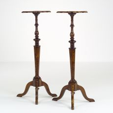 Pair of Dutch Walnut Torchères