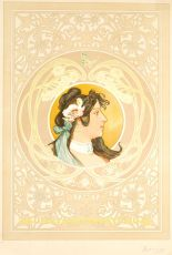 Art Nouveau poster  by  Milanaise