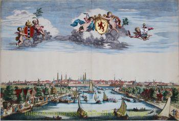 Amsterdam  gezicht op de Amstel by Scheevenhuysen, A.