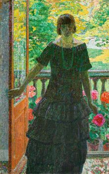 Woman on the Balcony by Léon De Smet
