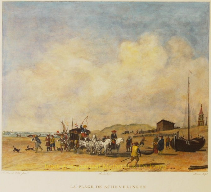 Scheveningen - After Van de Velde by Jacques François Swebach