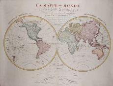 Wall map of the world  by  Eustache Hérison