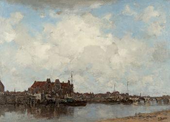 A town view by Jacob Maris