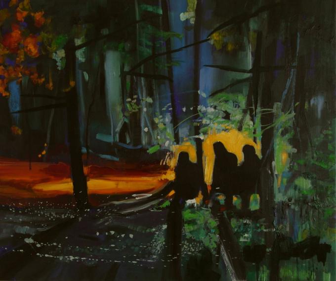 Het donkere en geheimzinnige woud by Siebrand Weitenberg