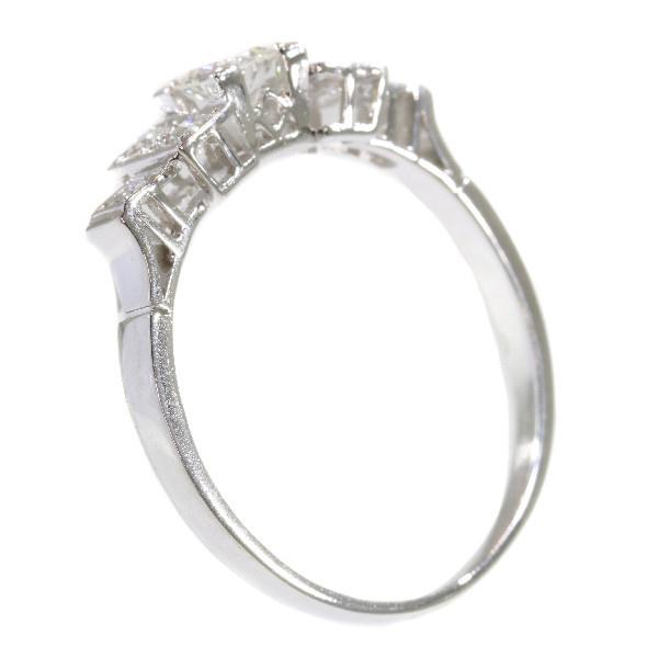 Vintage platinum Art Deco diamond engagement ring by Unknown Artist
