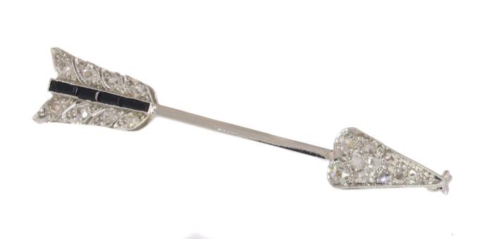 Vintage Art Deco diamond arrow pin by Unknown Artist