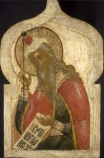 Antique Russian icon: The Prophet Aaron by Unknown Artist