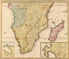 Southern Africa, Cape of Good Hope  by  Visscher/ De Leth