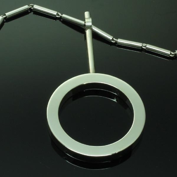 Artist Jewelry by Chris Steenbergen silver necklace and pendant by Chris Steenbergen