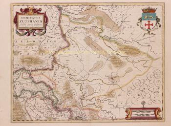 Achterhoek (County of Zutphen)  by  Johannes Janssonius