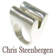 Artist Jewelry Chris Steenbergen silver ring by Chris Steenbergen