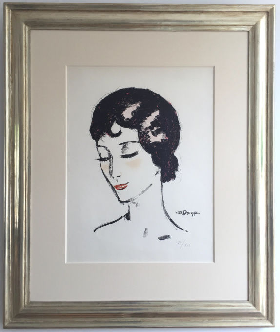Girl with the lowered eyes by Kees van Dongen