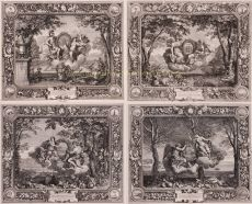 ALLEGORICAL DEPICTIONS OF THE FOUR SEASONS by Sebastien Leclerc