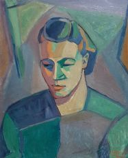 Fauvistic portrait by Remko Watjer