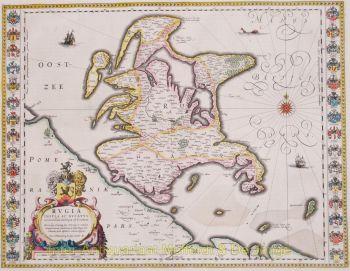 Rügen antique map  by Willem Blaeu