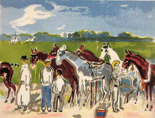 Taking care of horses by Kees van Dongen