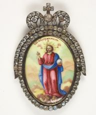 Russian enamelled icon: The Risen Savior by Unknown Artist