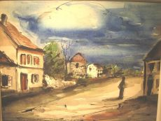 Village View with Figure by Maurice de Vlaminck
