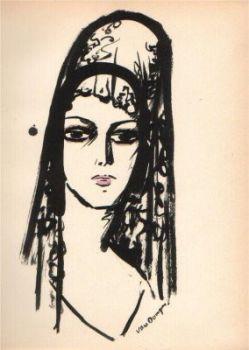 Spanish woman by Kees van Dongen