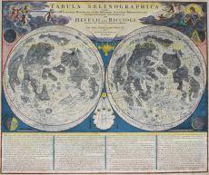 Map of the moon  by  Johann Baptiste Homann