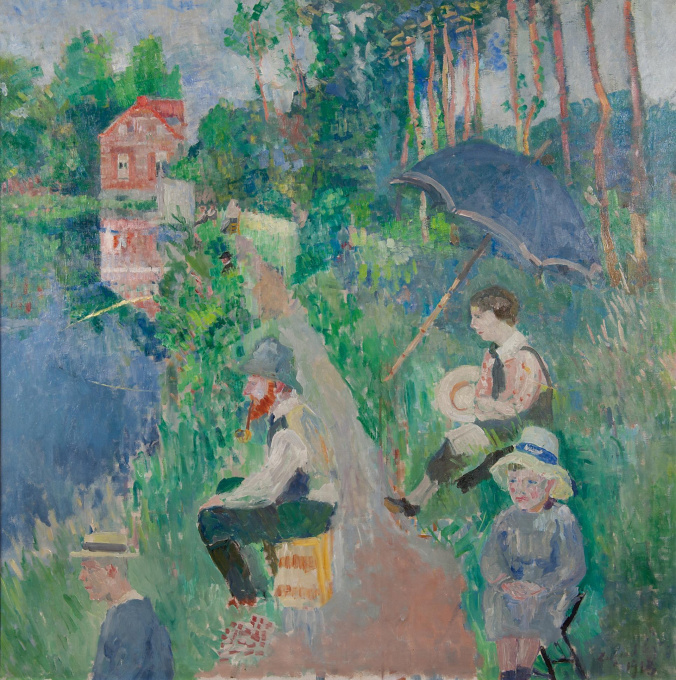 A summery family outing by Edgard Tytgat