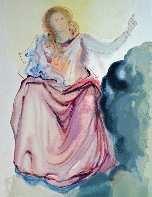 Divini commedia paradiso 04 by Salvador Dali